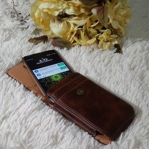 Faux leather cellphone case fits Samsung S9